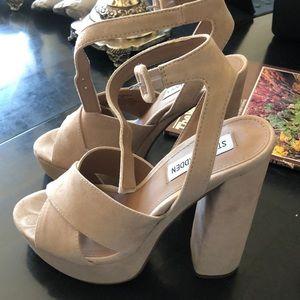 a53341461ba Steve Madden Shoes - Steve Madden Jodi Block Heel Blush